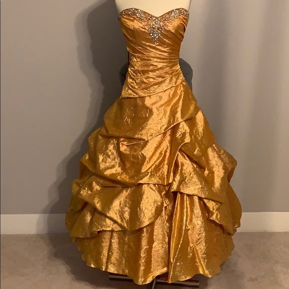 Tiffany Designs Dresses & Skirts - Beautiful Gold Ball Gown